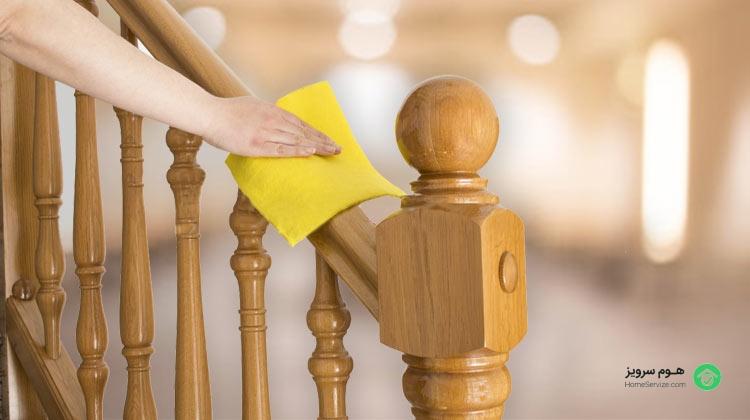 نظافت راه پله منازل مسکونی