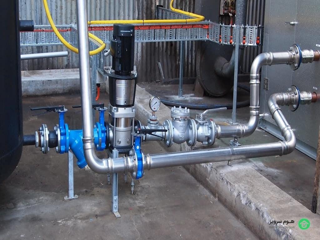 سیستم لولهکشی آب ساختمان به دو صورت سنتی و پنوماتیک صورت میگیرد.