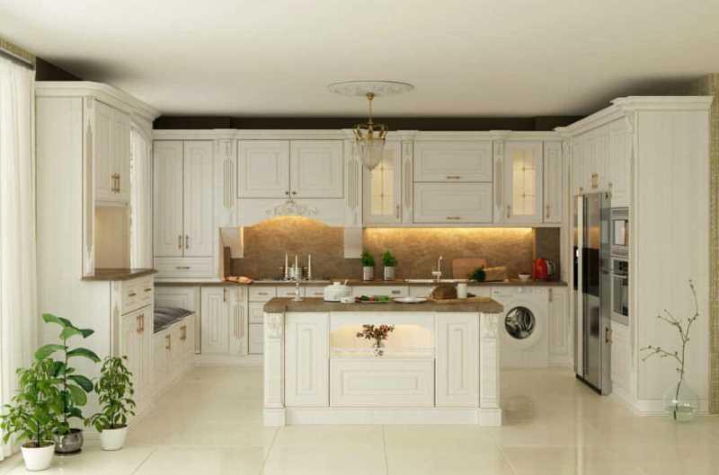 طراحی و ساخت کابینت آشپزخانه سفید