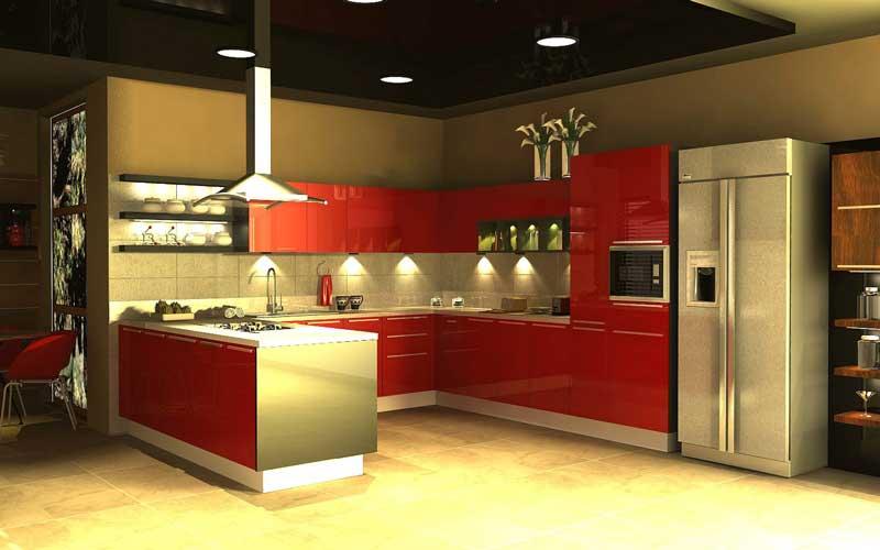 ساخت کابینت آشپزخانه طرحدار