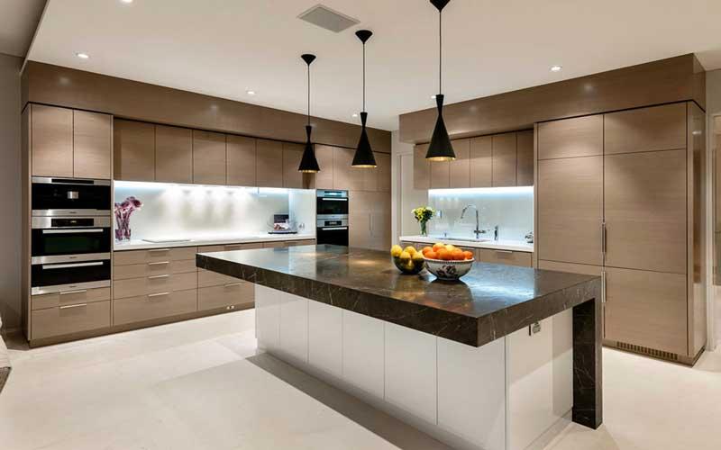 آشپزخانه مدرن سفید