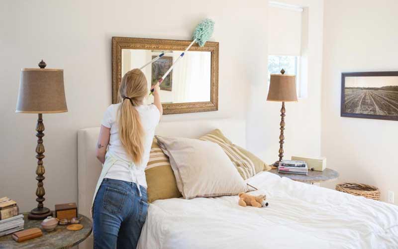 نظافت خانه و تمیز کردن اتاق خواب