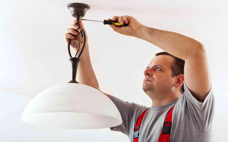 روش نصب لوستر به سقف کاذب