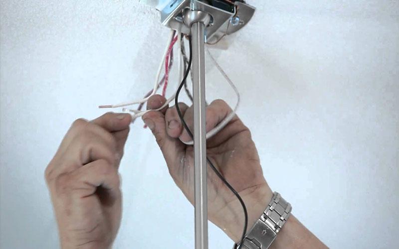 طریقه نصب لوستر سقفی دوپل