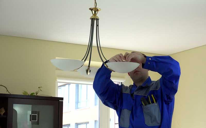 هزینه اتصال چراغ های سقفی