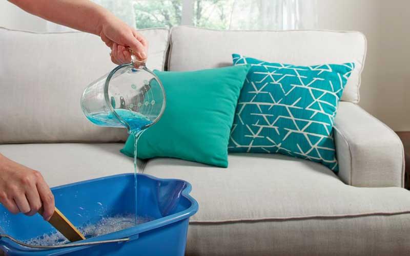 طریقه شستن مبل با مواد شوینده