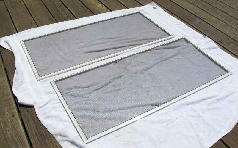 نصب توری پنجره آلومینیومی