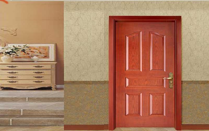 زیباترین درب چوبی اتاق خواب