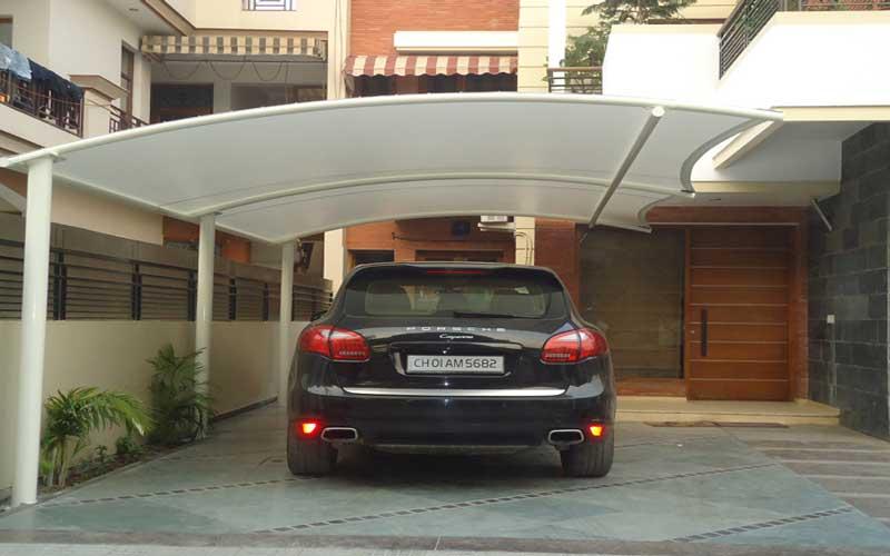 سایبان پارکینگ اتومبیل منازل ارزان
