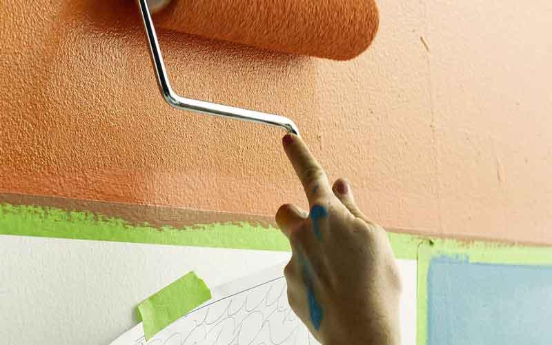 نقاشی ساختمان با غلطک قیمت
