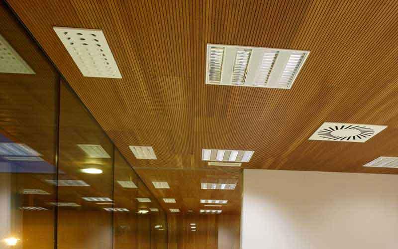 ساخت انواع سقف کاذب چوبی