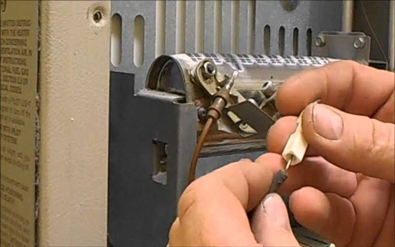 مراحل تعمیر ترموکوبل بخاری گازی