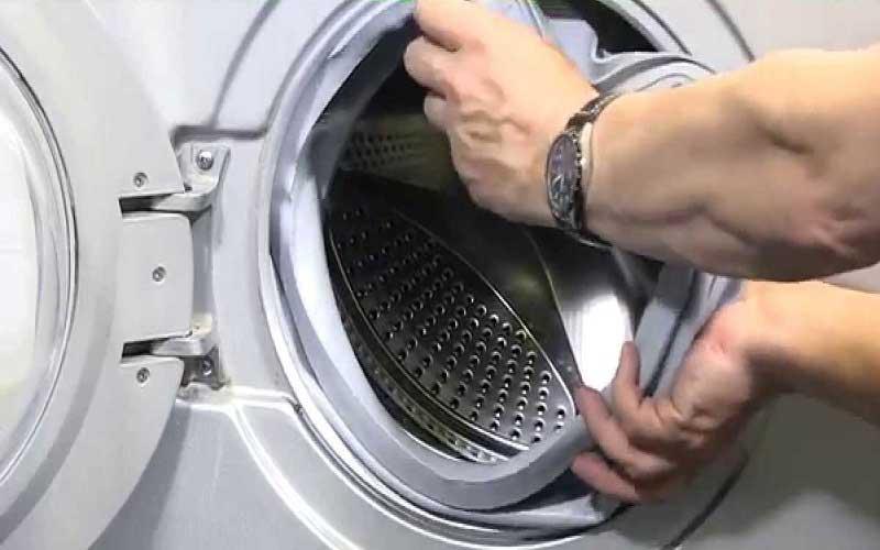 چگونه لاستیک درب ماشین لباسشویی را تعویض کنیم؟