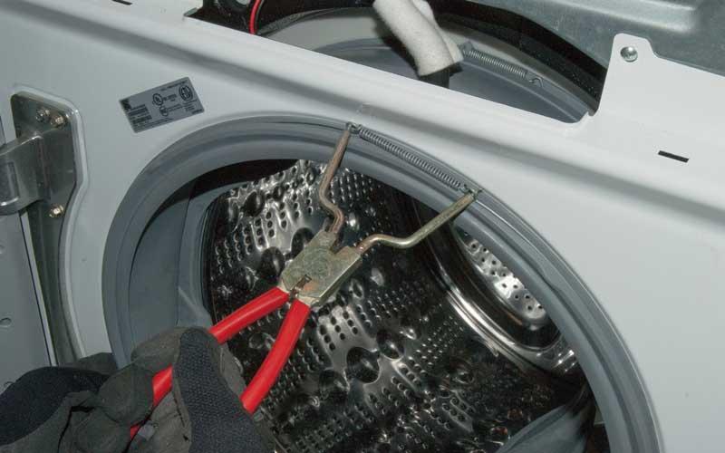 مراحل تعویض لاستیک درب ماشین لباسشویی