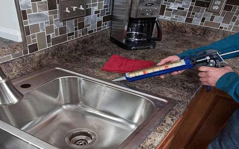 نصب سینک ظرفشویی توکار به همراه سیفون