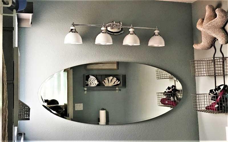 آینه کاری اتاق پذیرایی