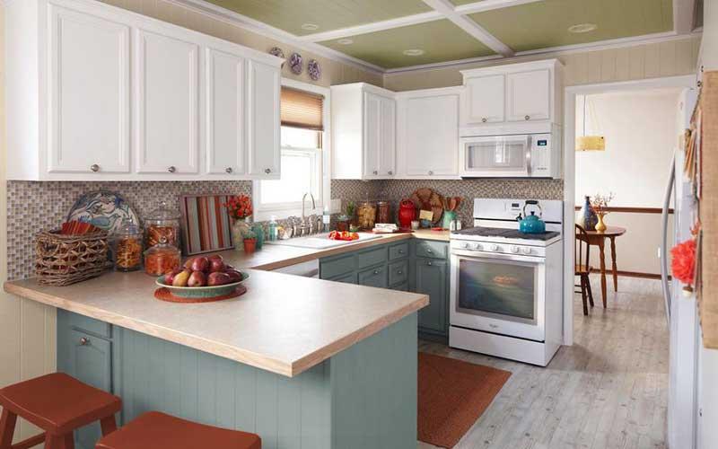 چرا کابینت آشپزخانه دو رنگ مد شده است؟