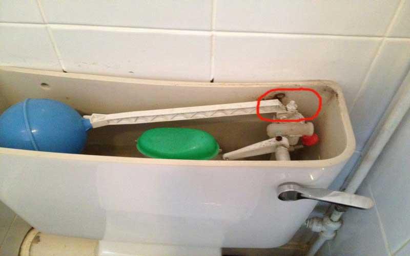 راهنمای تعمیر شناور توالت فرنگی