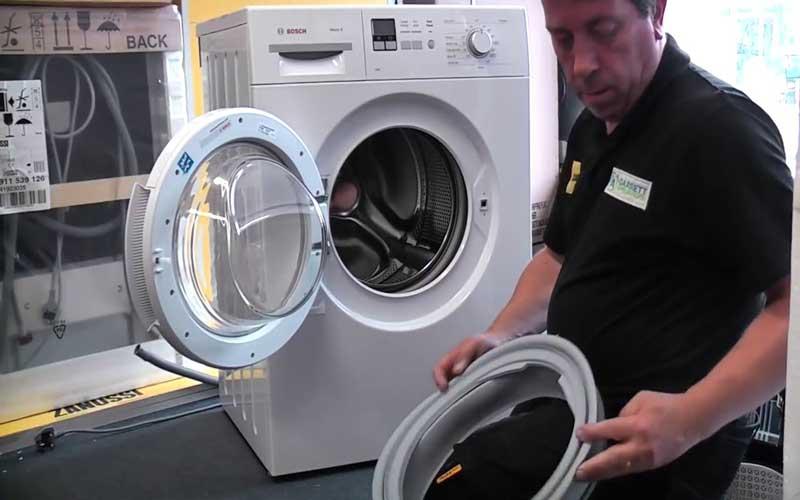 هزینه تعویض لاستیک درب ماشین لباسشویی