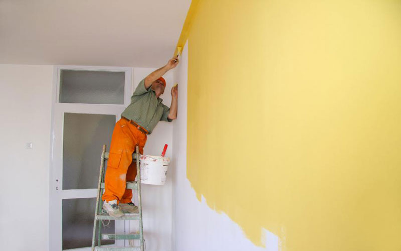 مراحل رنگ آمیزی سقف منزل