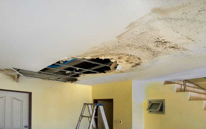 نم دادن سقف آپارتمان