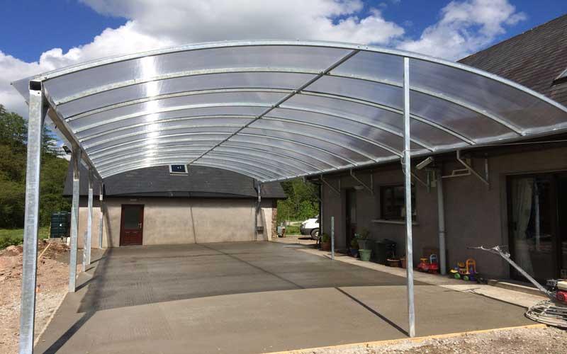 سقف پلی کربنات پارکینگ