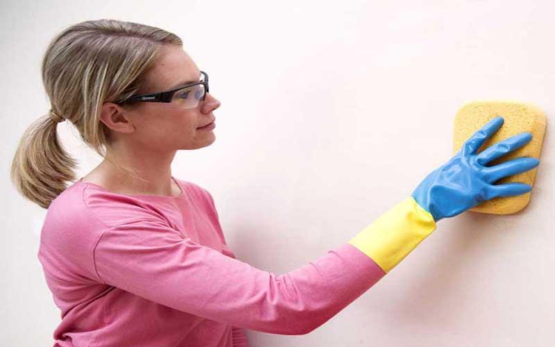 تمیز کردن دیوار خانه