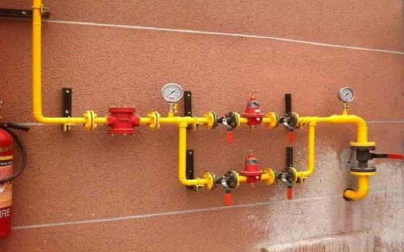 خدمات لوله کشی گاز روکار