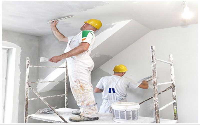 گچ کاری دیوار و سقف