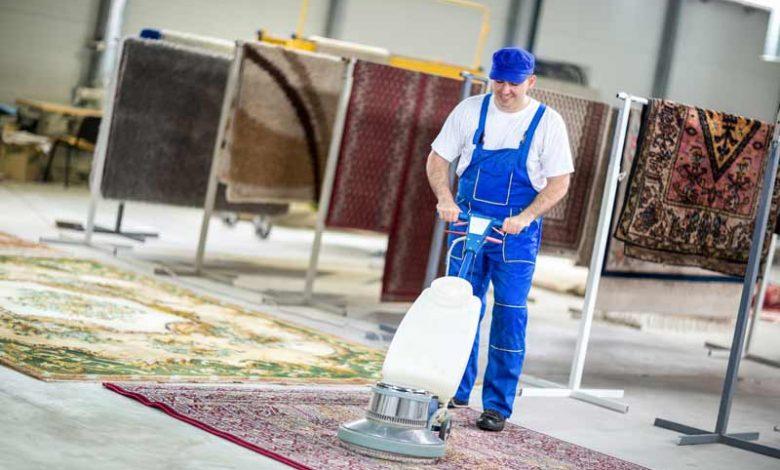 طریقه شستن فرش ها در قالیش.یی