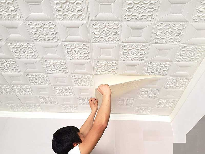 کاغذ دیواری سقفی سفید
