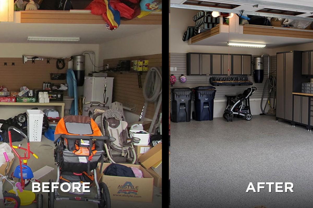 عکس قبل و بعد از تمیزی انبار خانه