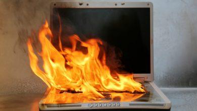 داغ شدن لپتاپ